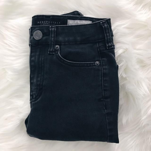Faded Black High Waisted Jegging // Aeropostale