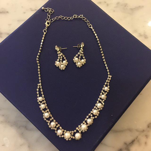 Fashion Jewelry Pearl Set