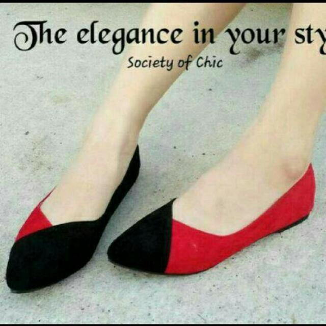 Flat shoes combinasi