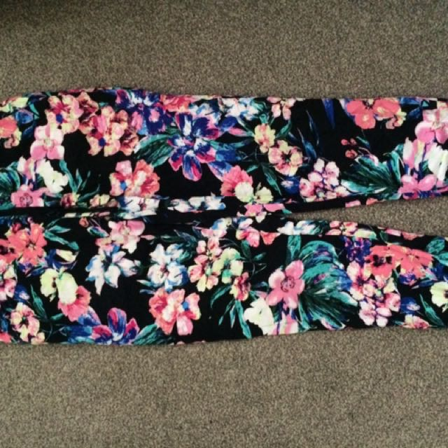 Flower Fat Pants
