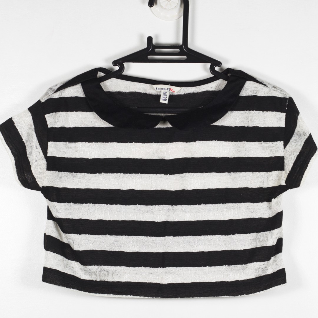 REPRICED Forever 21 Striped Crop Top