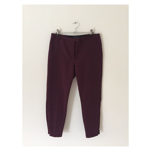 Forever New | Maroon Trousers | Size 12