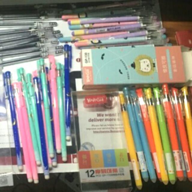 Frixion Pens / Erasable Gel Ink Pens