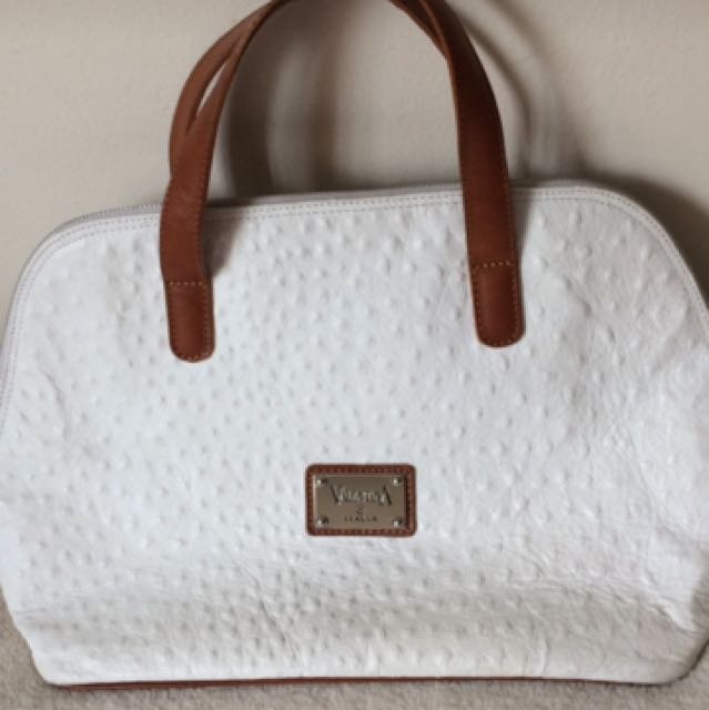 Genuine Ostrich Skin Valentina Bag