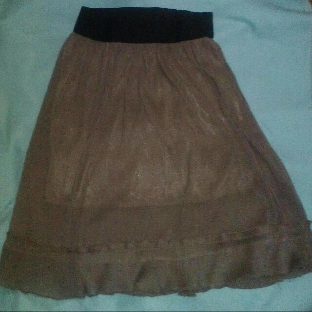 Garterized Flowy Skirt