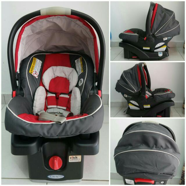Graco Snugride Click Connect 35 Infant Car Seat Red