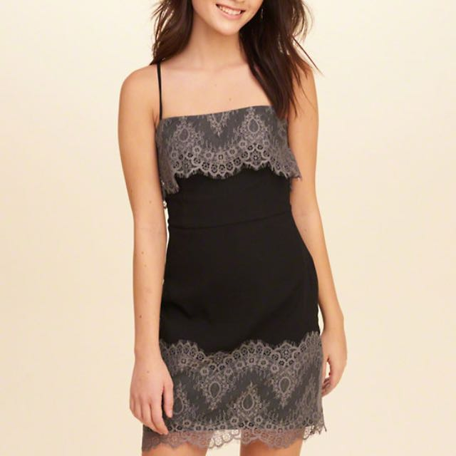 Hollister Lace-Overlay Dress