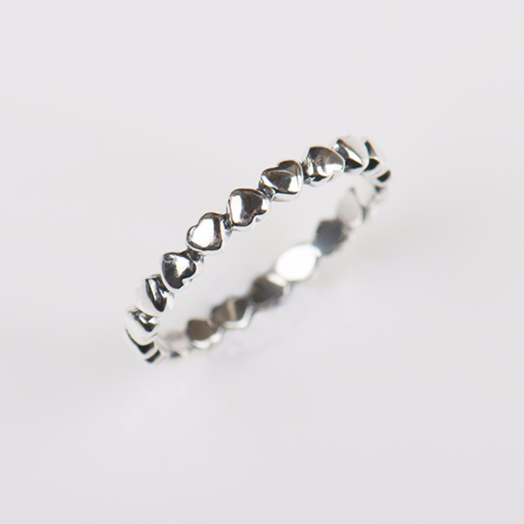Hot Authentic Original Fashion 100% Solid 925 Sterling Silver Heart Finger Ring Forever Love Jewelry Valentine's Day Gift