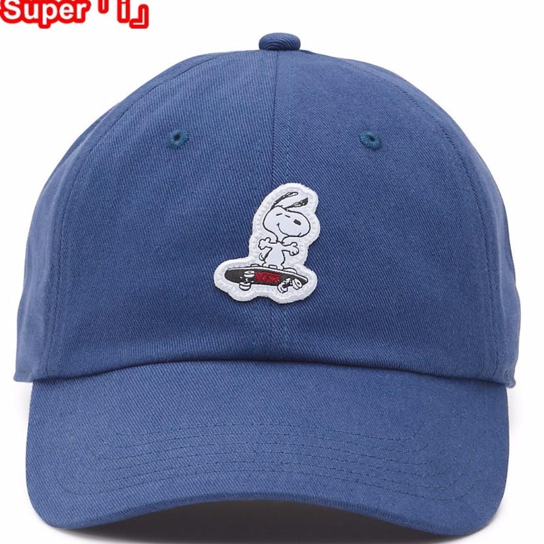 「i」【預購】VANS X Peanuts Court Side 史奴比Snoopy 聯名 logo貼布 棒球帽 帽子