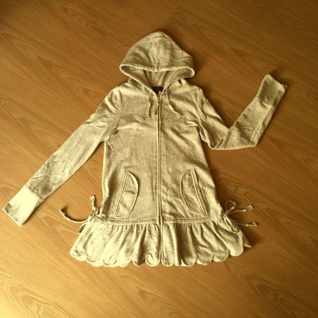 可愛甜美風格的Jillstuart灰色小外套