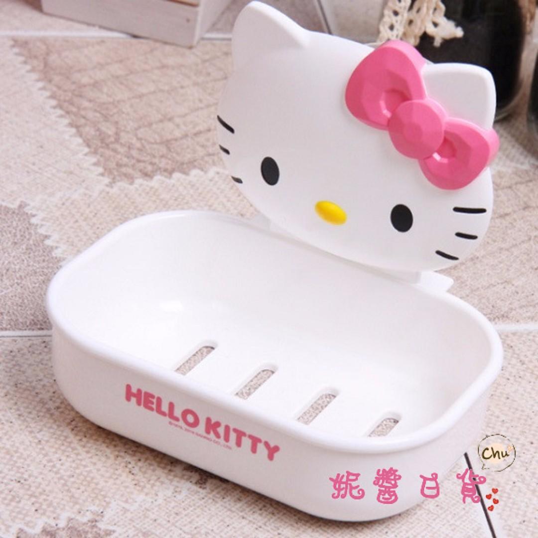 【妮醬日貨】KITTY 韓國製 肥皂盤 肥皂盒 香皂盤 香皂架 飾品盤 菜瓜布架 090137