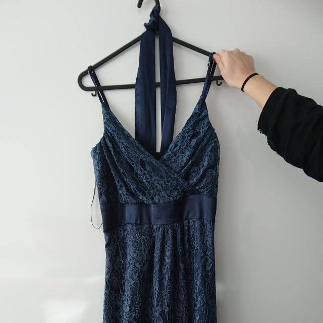 Midnight Blue Knee-length lace dress