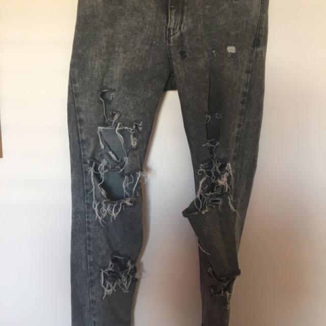 Ksubi Grey Ripped Jeans