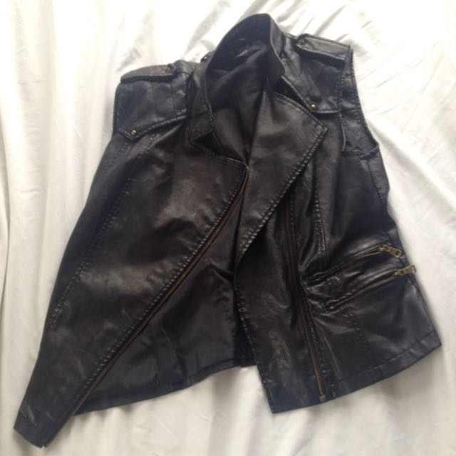 Leather Vest Jacket