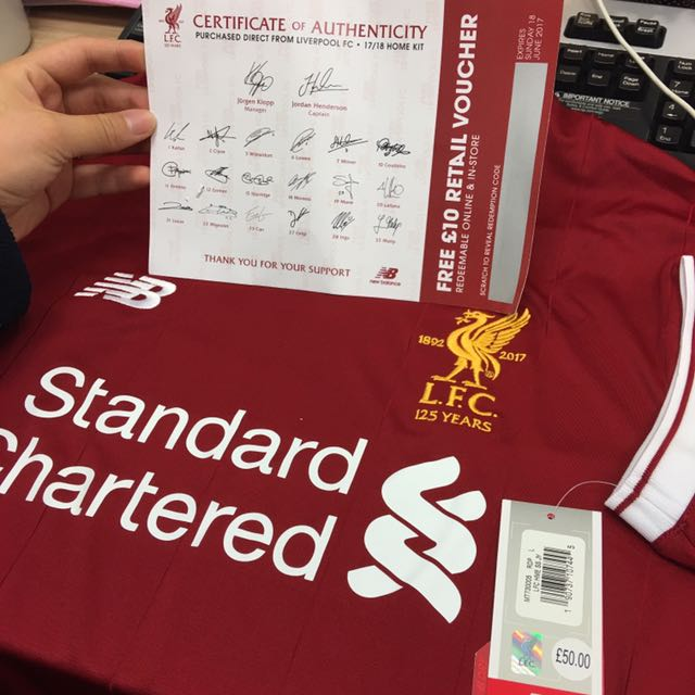 9a90a9db2 Liverpool 17 18 men home kit (Authentic From LFC UK)