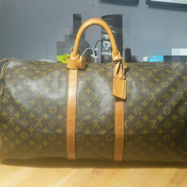 LV 旅行袋 55公分 8成新 甜售13000含運