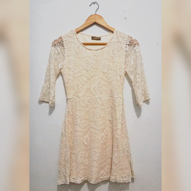 [MADE IN JAPAN] Lace Dress with Inner