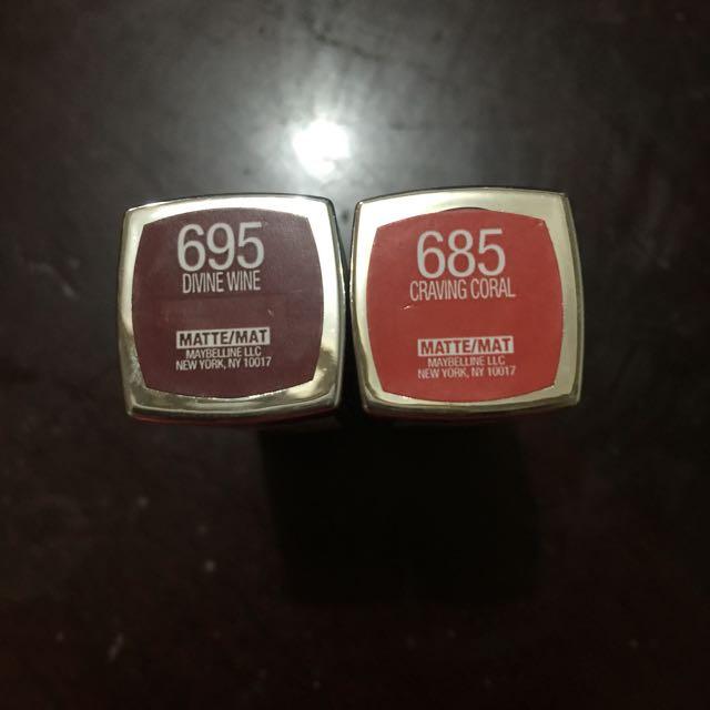 Maybelline Lipsticks (bundle)