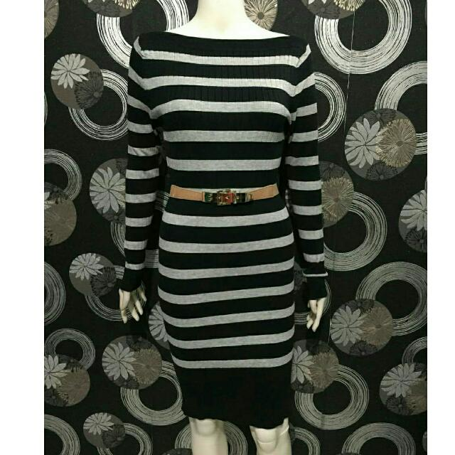 Midi Dress Rajut Tebal