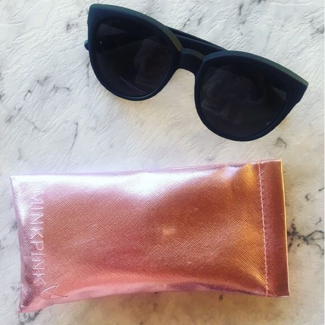 Mink Pink Cat Eye Black Sunglasses