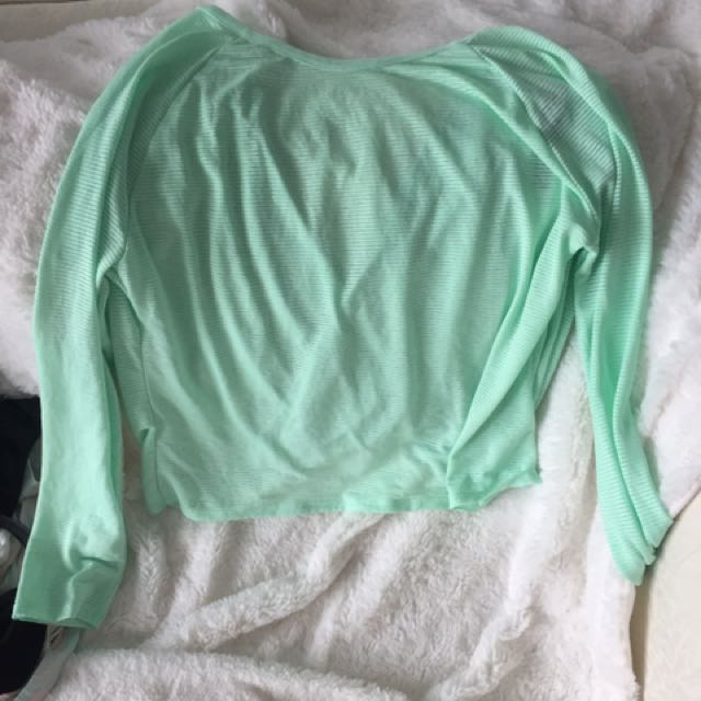 Mint Shirt With Detailing Back
