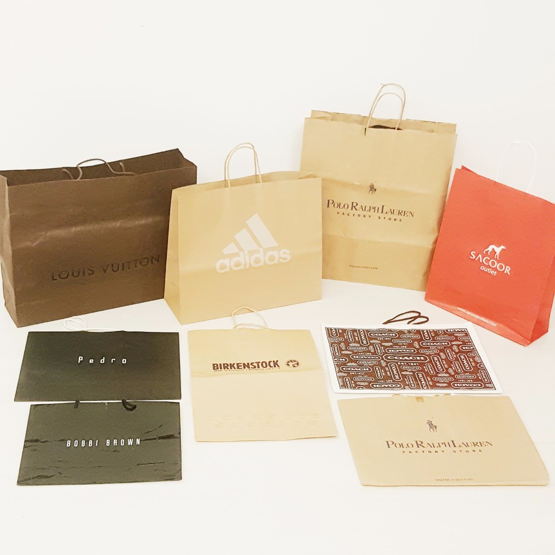 M-L Size Paper Bag . BIG LV . to Medium Size . Luxury . Clearance: Support Recycle . Paper Bag . Multi Branded Bag . International Brand