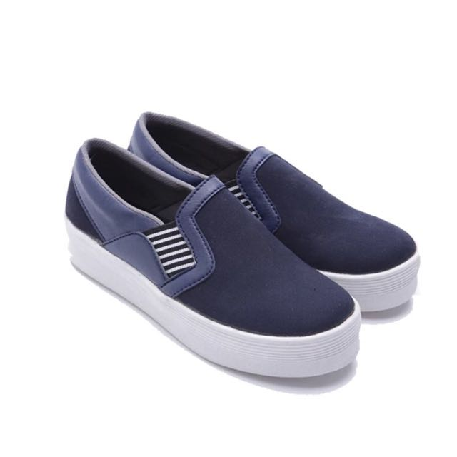 Navy Slip On Shoes Dr. Kevin