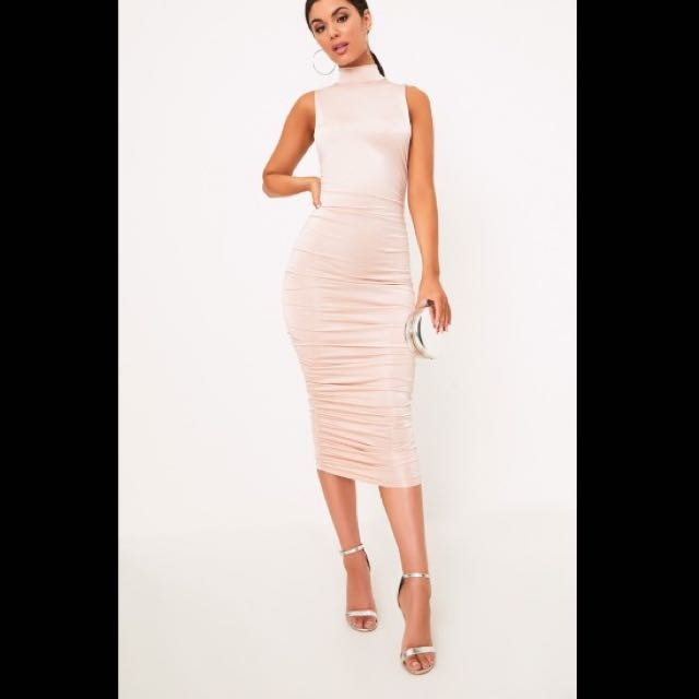 NEW Nude Pink Bodycon Dress