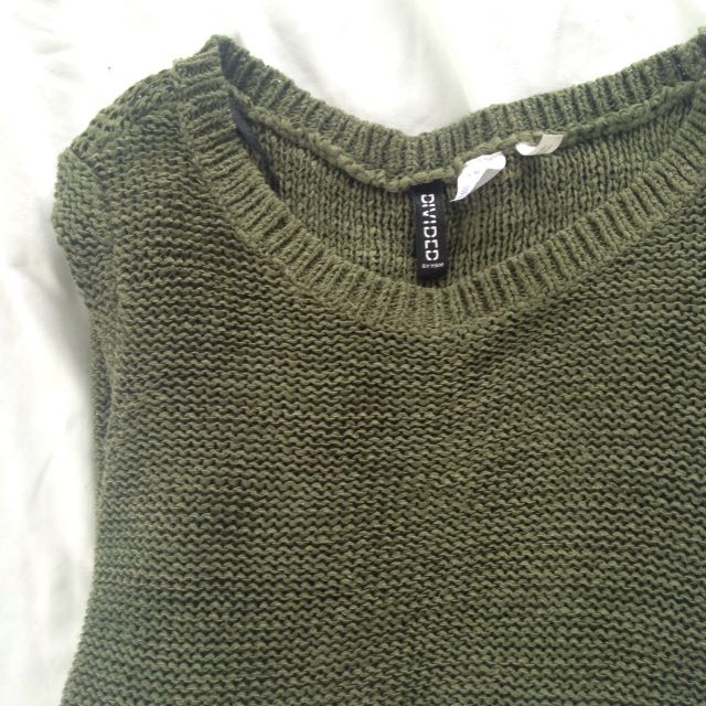 Olive H&M Knit Sweater