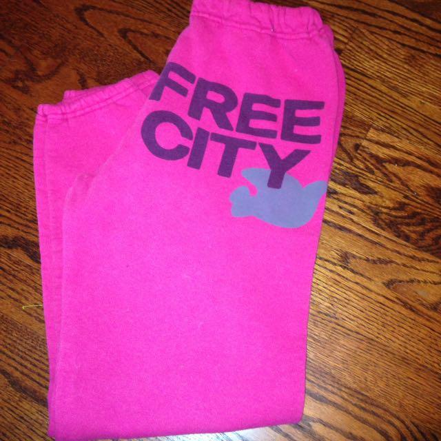 Pink Free City Sweatpants