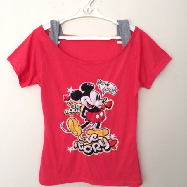 Pink Mickey Mouse Shirt