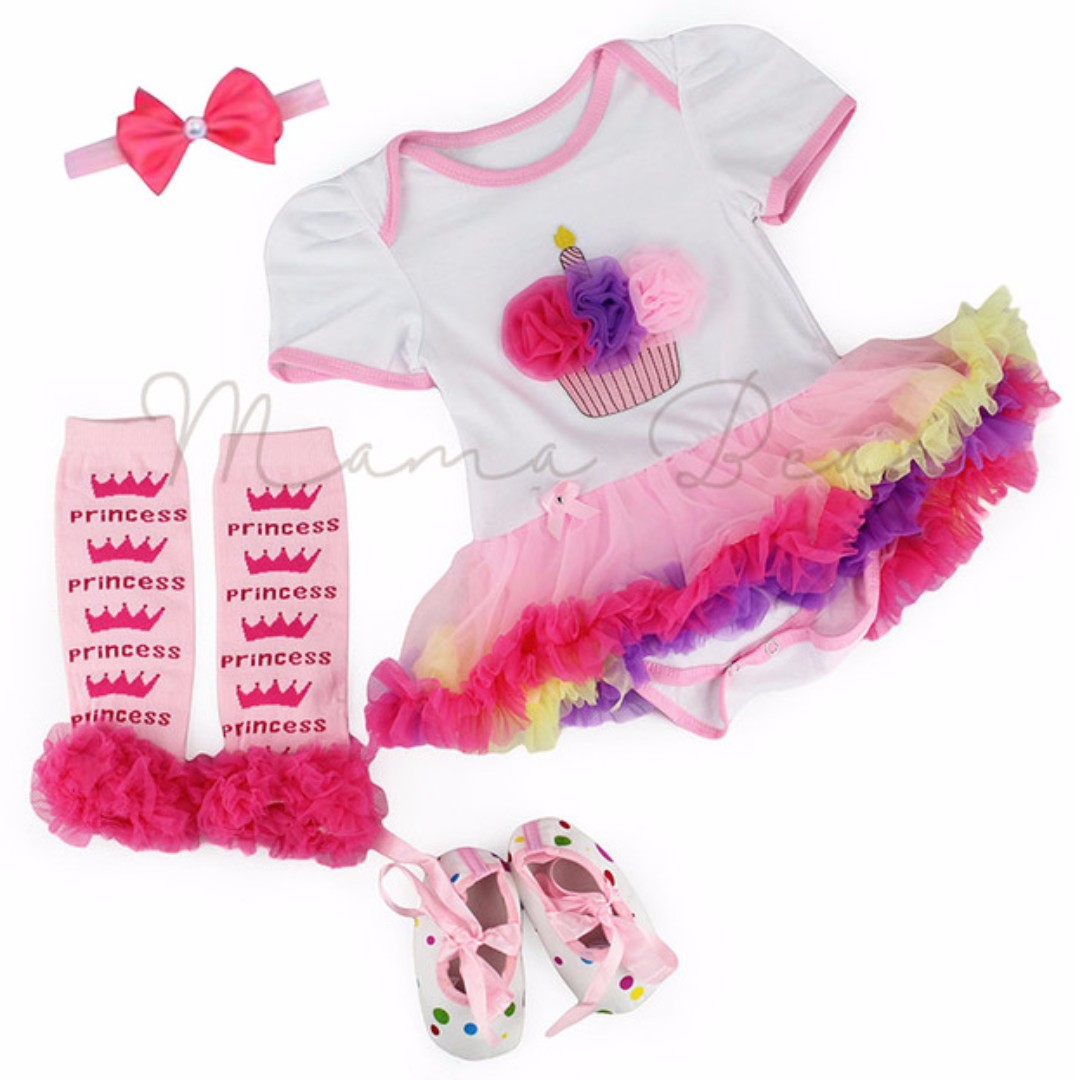 Princess Cupcake Baby Tutu Set