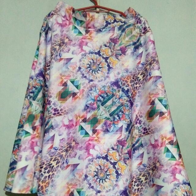 Printed Skirt Midi