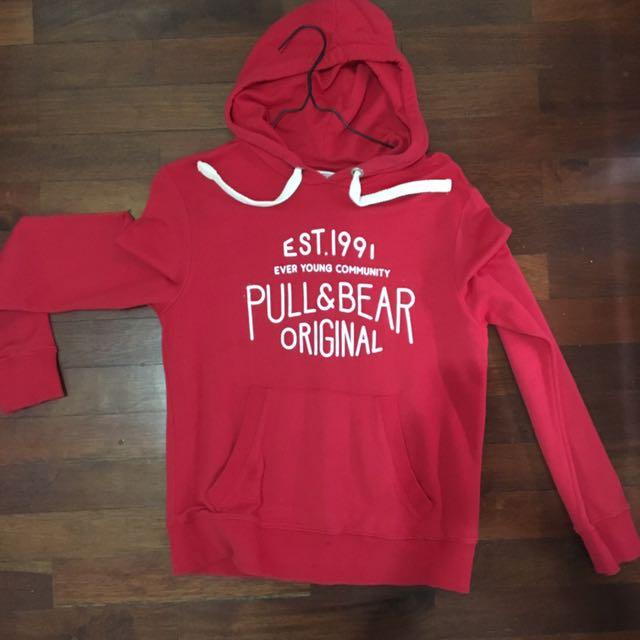 Pull & Bear Original Red Hoodie