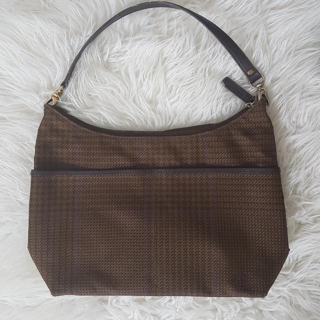 Ralph Lauren Houndstooth Medium Bag