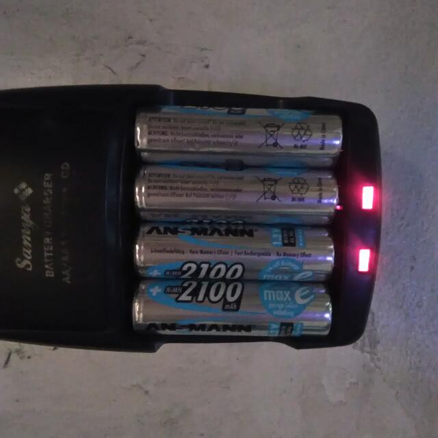 Rechargeable AA Battery And Charger