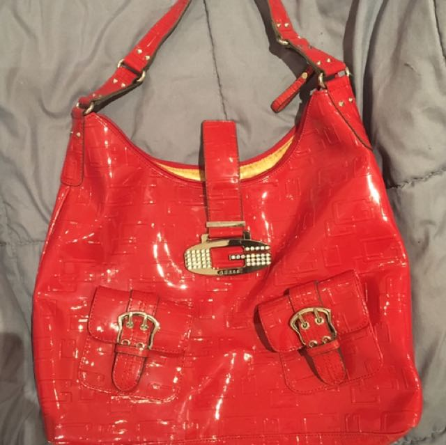 Red Crystal Guess Bag