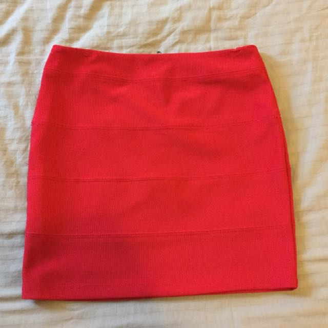 Red Skirt Size 10