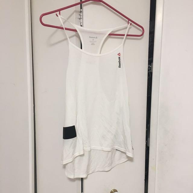 REEBOK CROSSFIT WORKOUT WHITE TANK SMALL SIZE S