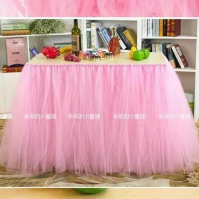RENTAL Baby Pink Tulle Tutu Table Skirting Design Craft Others On Carousell