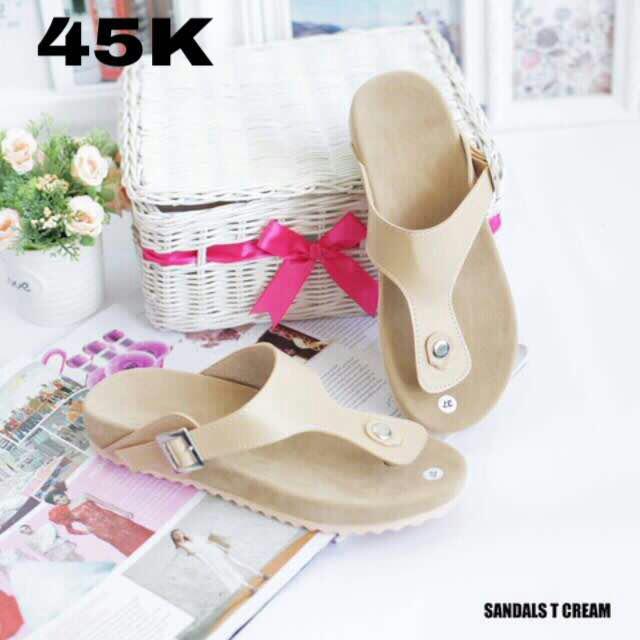 Sandal T Cream Birken