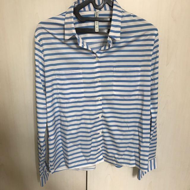 Stradivarius - Blue Stripe Shirt