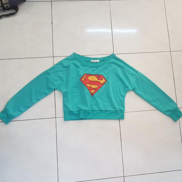 Superman Crop Sweatshirt