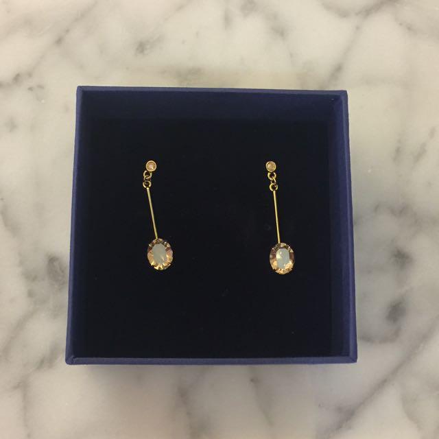 Swarovski Elena Simple Pierced Earrings