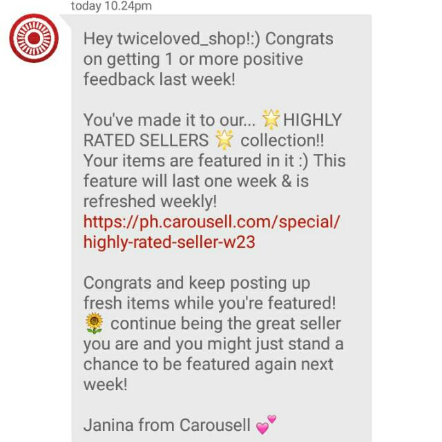 Thanks much Carousell!