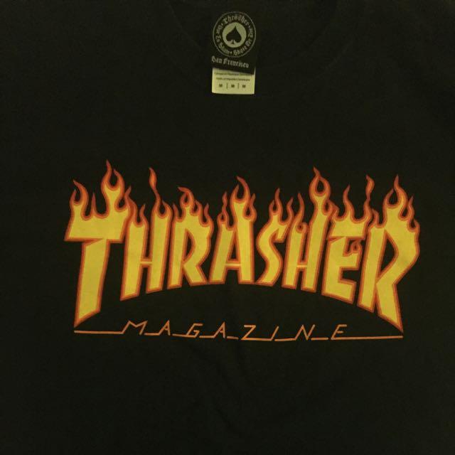 thrasher火焰t
