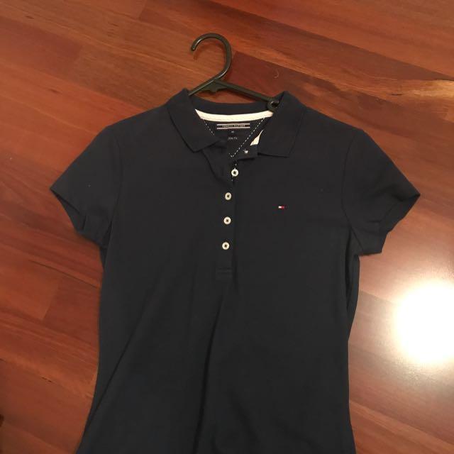 Tommy Hilfiger Brand New Navy Polo Slim Tshirt XS