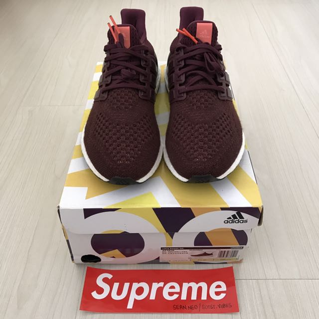 US8 Adidas Ultra Boost Burgundy 1.0 cf06073be