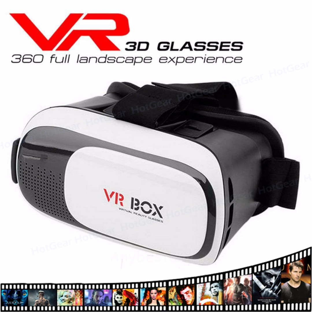 72596eed1072 VR BOX 2.0 - 3D Glasses Virtual Reality Google Cardboard Helmet ...