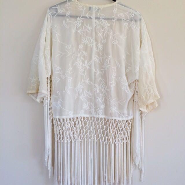 White Lace Wrap